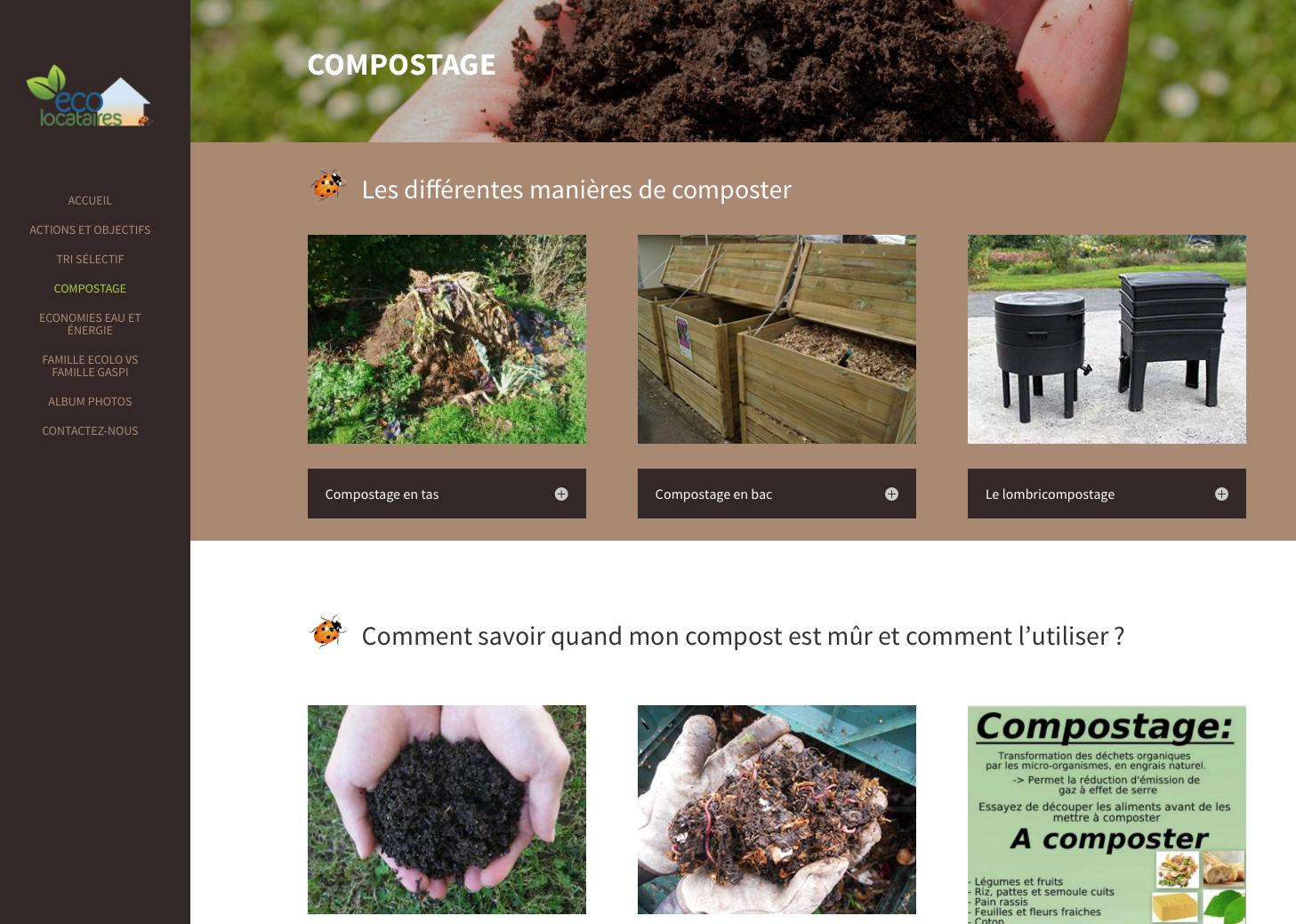 Promouvoir le tri selectif, le recyclage et le compostage, dans les foyers